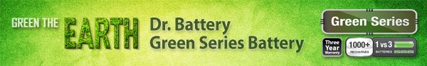 Dr. Battery Green Series Batteries